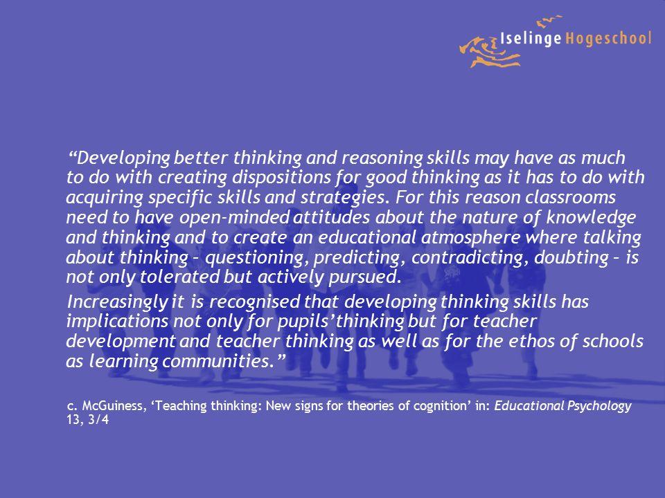 Verbinden van het leren Concrete voorbereiding Cognitief conflict Onderzoek en Probleemoplossing - De uitdaging van een nieuwe situatie, die leerlingen verder brengt, dan hun bestaande kennis en begrip.
