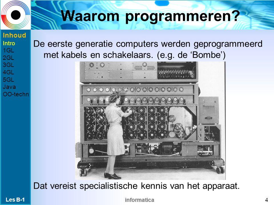 informatica Waarom programmeren.