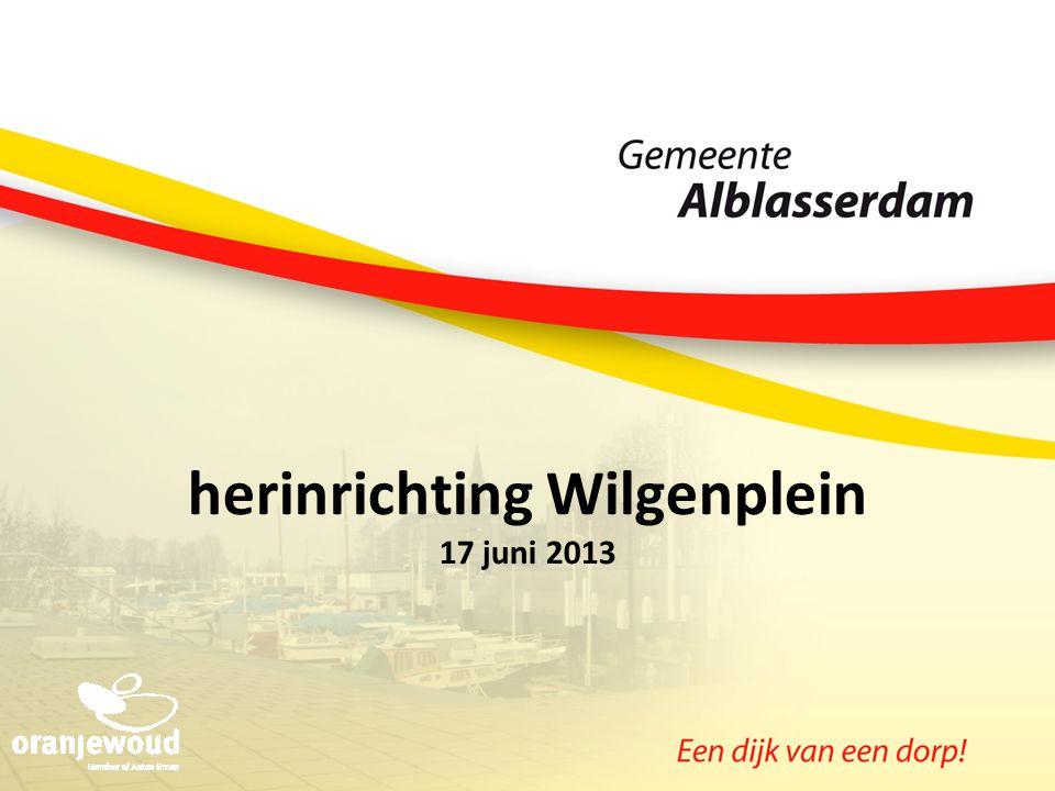 herinrichting Wilgenplein 17 juni 2013