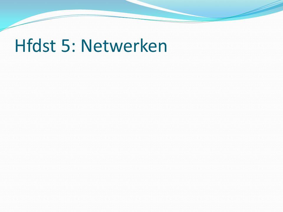 Hfdst 5: Netwerken