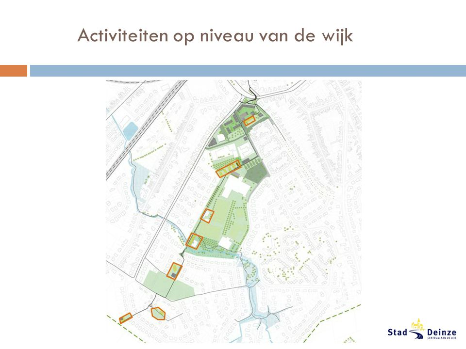 Activiteiten op niveau van de wijk