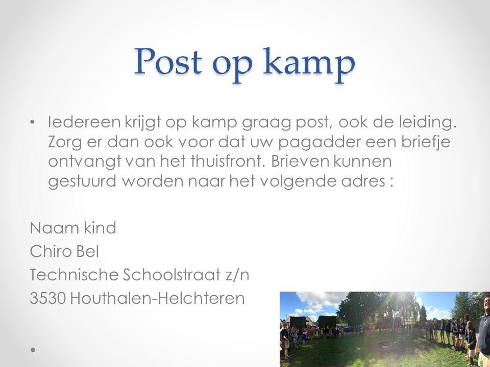 Post op kamp Iedereen krijgt op kamp graag post, ook de leiding.