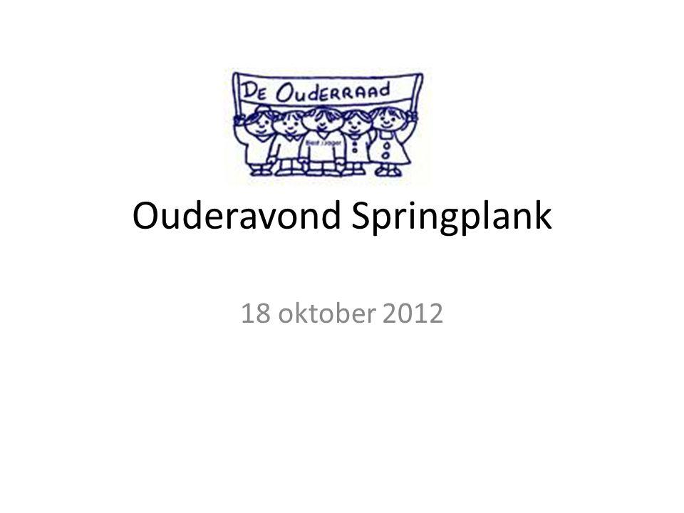 Ouderavond Springplank 18 oktober 2012
