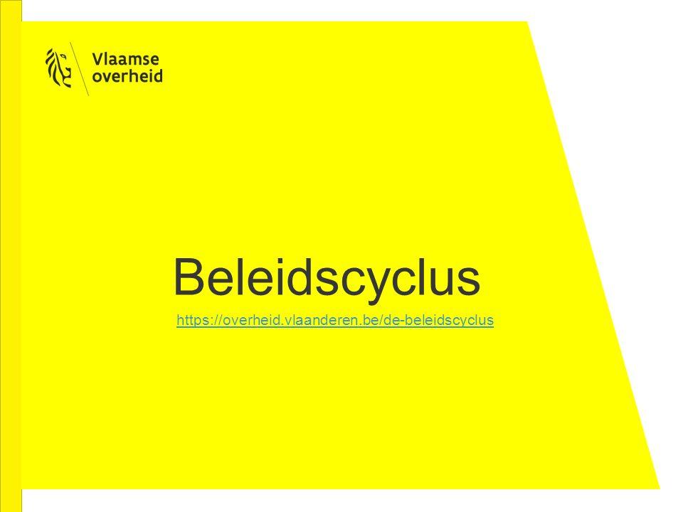 Beleidscyclus https://overheid.vlaanderen.be/de-beleidscyclus