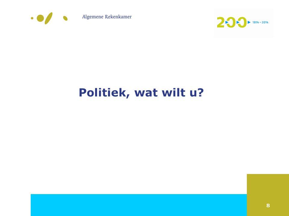 8 Politiek, wat wilt u?