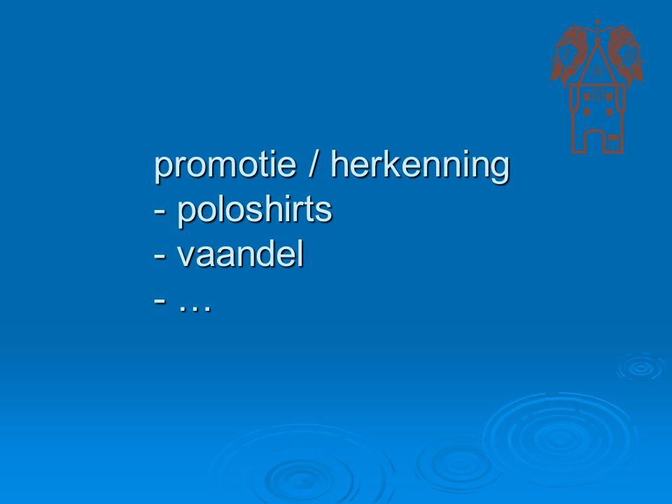 promotie / herkenning - poloshirts - vaandel - …