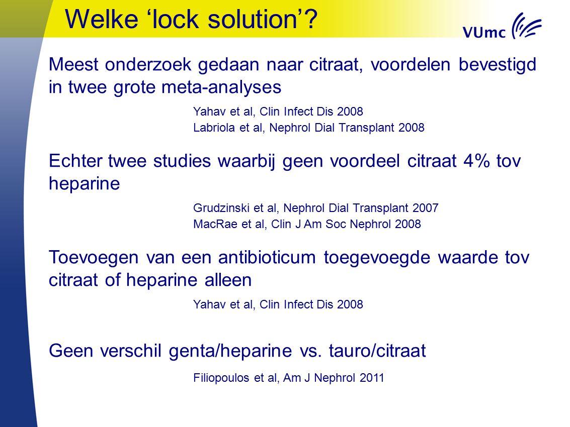 Welke 'lock solution'.