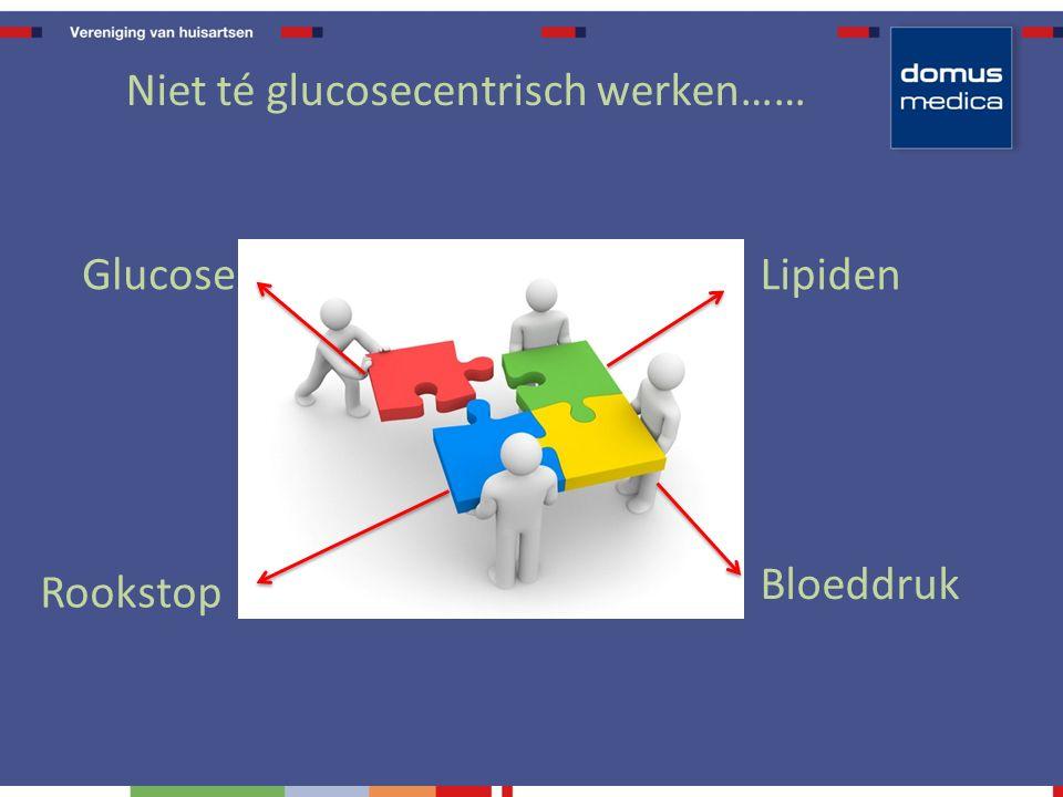 Niet té glucosecentrisch werken…… Rookstop GlucoseLipiden Bloeddruk