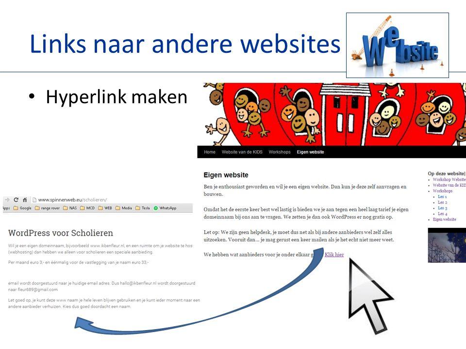 Links naar andere websites Hyperlink maken