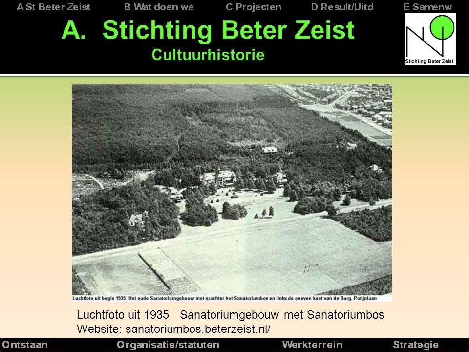 Luchtfoto uit 1935 Sanatoriumgebouw met Sanatoriumbos Website: sanatoriumbos.beterzeist.nl/