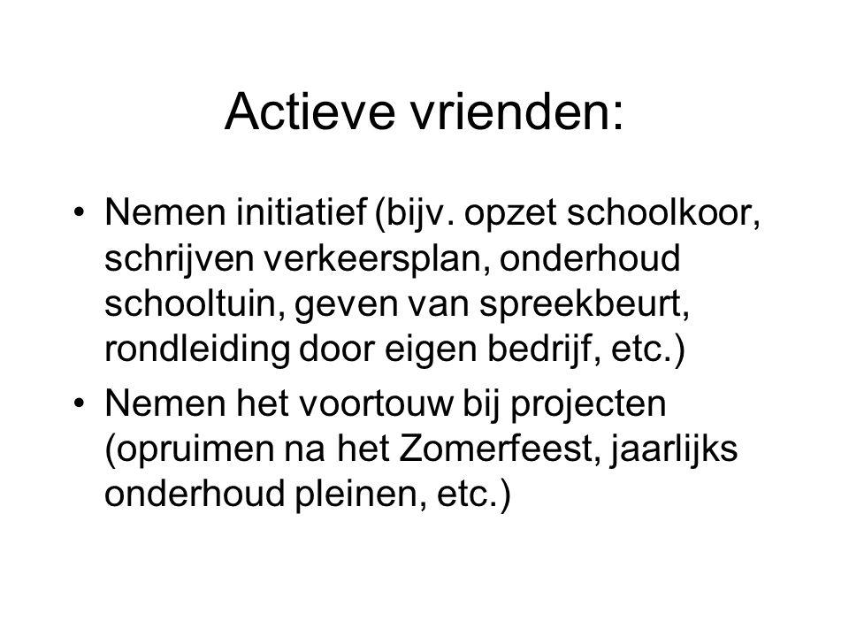 Actieve vrienden: Nemen initiatief (bijv.