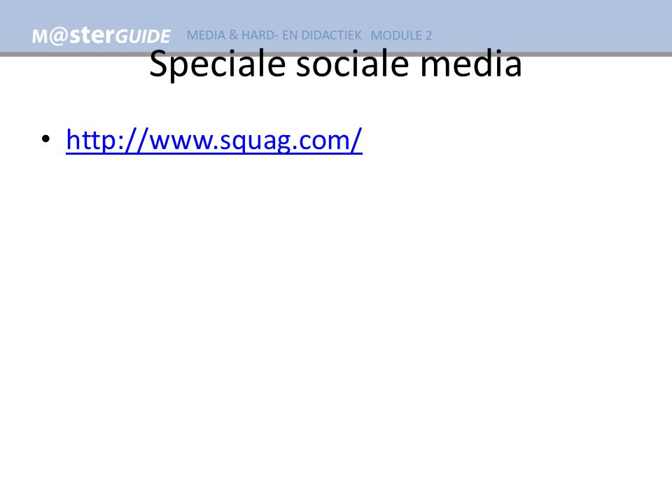 Speciale sociale media http://www.squag.com/