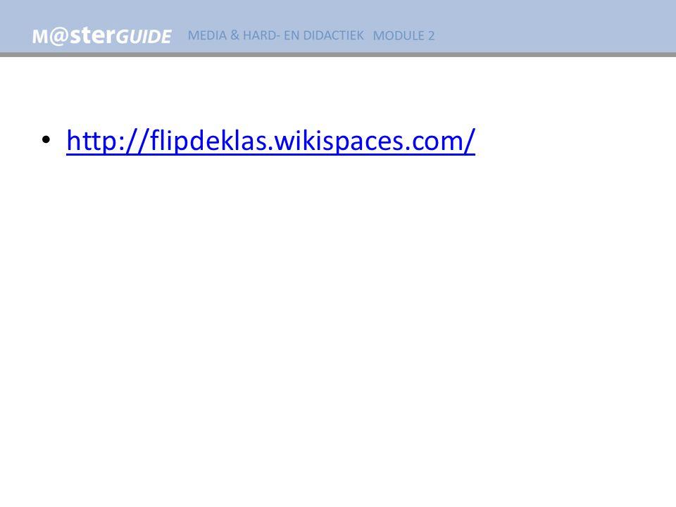 http://flipdeklas.wikispaces.com/