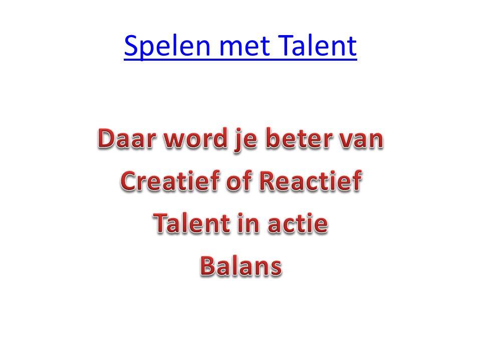 Spelen met Talent