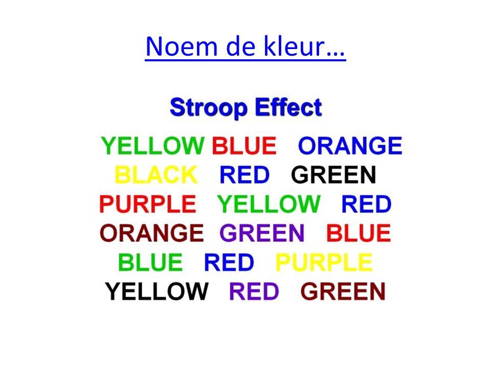 Noem de kleur…