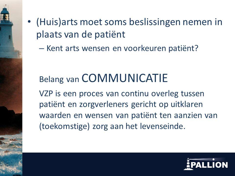 (Huis)arts moet soms beslissingen nemen in plaats van de patiënt – Kent arts wensen en voorkeuren patiënt.
