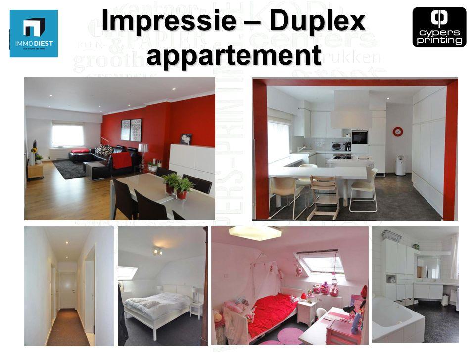 Impressie – Duplex appartement