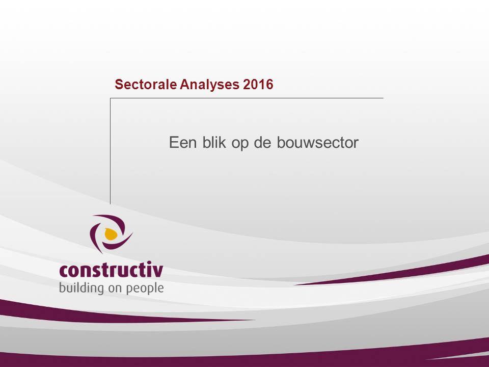 Sectorale Analyses 2016 Een blik op de bouwsector