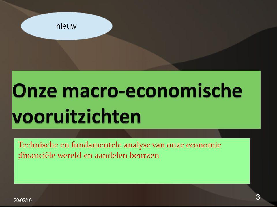 Technische en fundamentele analyse van onze economie ;financiële wereld en aandelen beurzen 20/02/16 3 nieuw