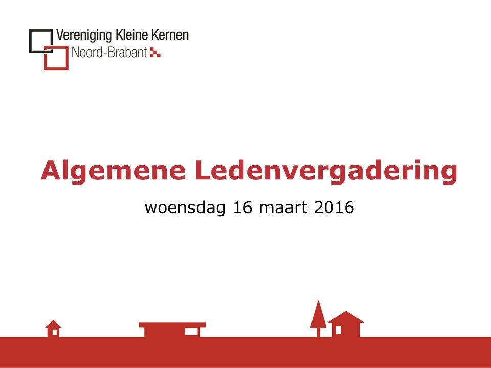 Algemene Ledenvergadering woensdag 16 maart 2016