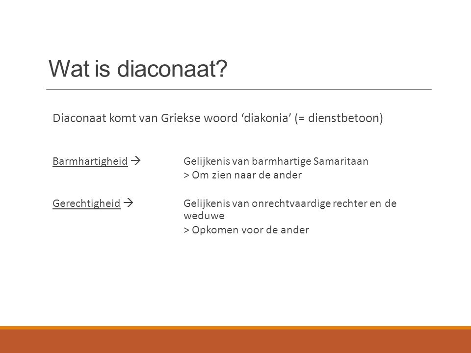 Wat is diaconaat.