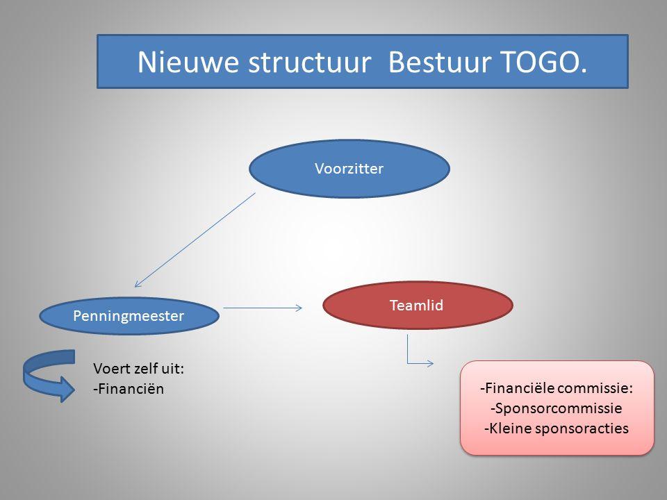 Voorzitter Penningmeester Nieuwe structuur Bestuur TOGO.