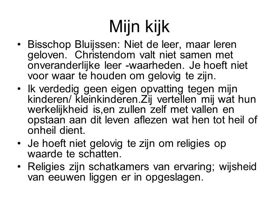 Mijn kijk Bisschop Bluijssen: Niet de leer, maar leren geloven.