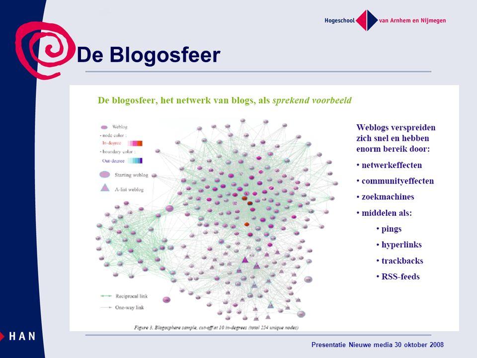 Presentatie Nieuwe media 30 oktober 2008 De Blogosfeer
