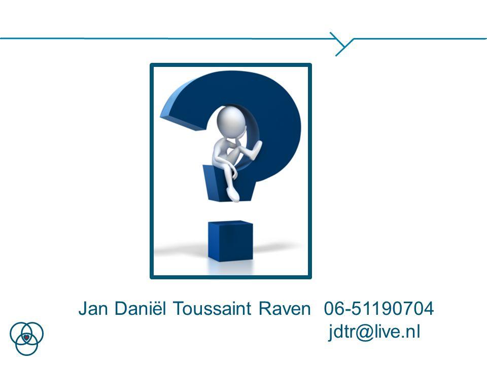Jan Daniël Toussaint Raven 06-51190704 jdtr@live.nl