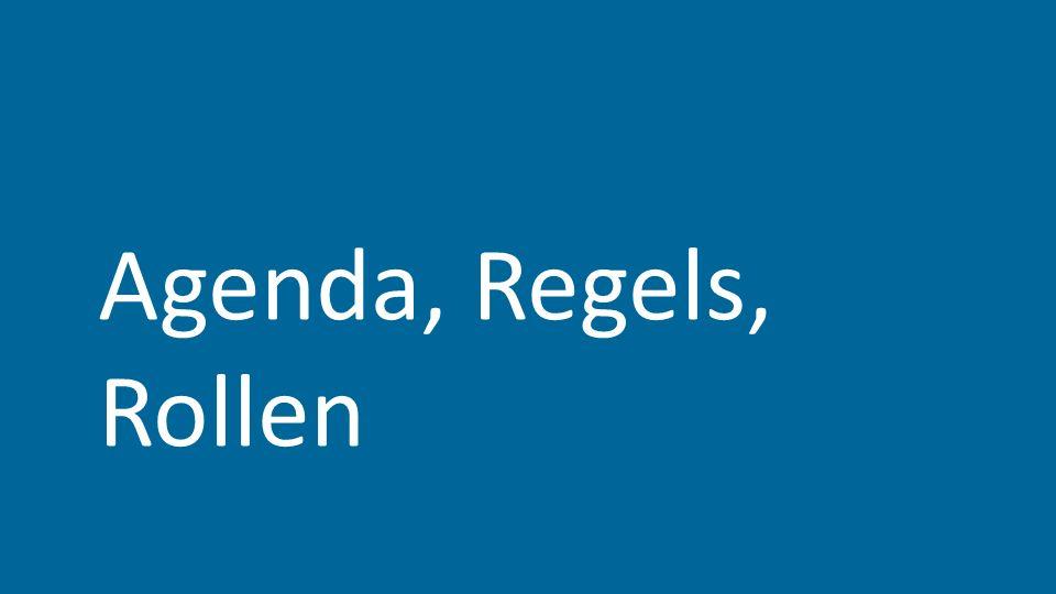 Agenda, Regels, Rollen