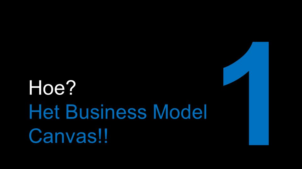 Hoe Het Business Model Canvas!! 1