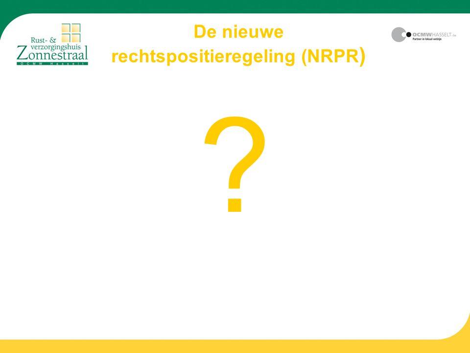 De nieuwe rechtspositieregeling (NRPR ) ?