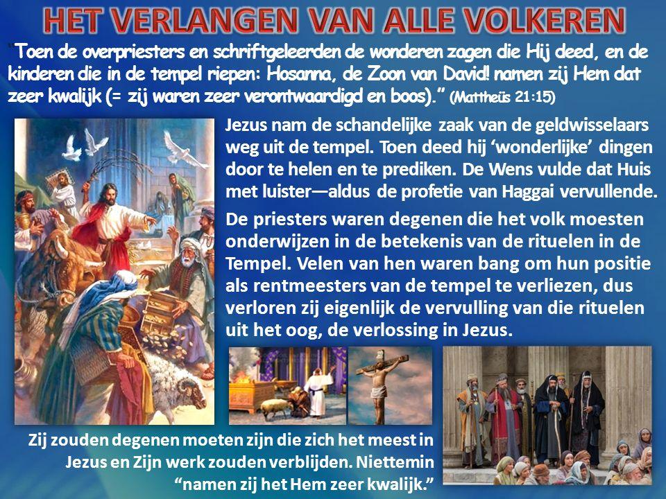 """""""Toen de overpriesters en schriftgeleerden de wonderen zagen die Hij deed, en de kinderen die in de tempel riepen: Hosanna, de Zoon van David! namen z"""