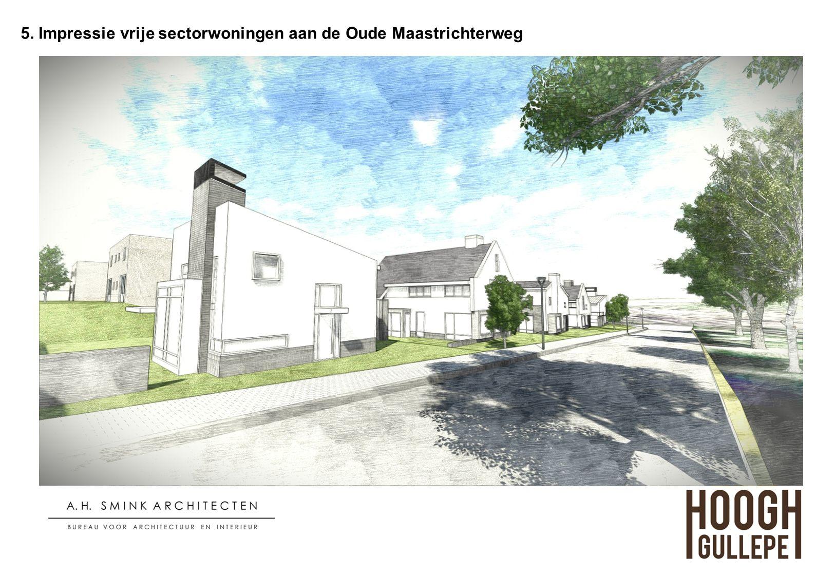 5. Impressie vrije sectorwoningen aan de Oude Maastrichterweg