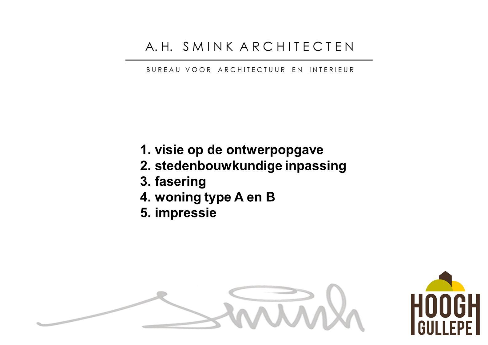 1. visie op de ontwerpopgave 2. stedenbouwkundige inpassing 3.