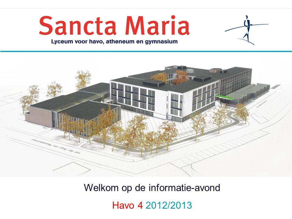 Welkom op de informatie-avond Havo 4 2012/2013