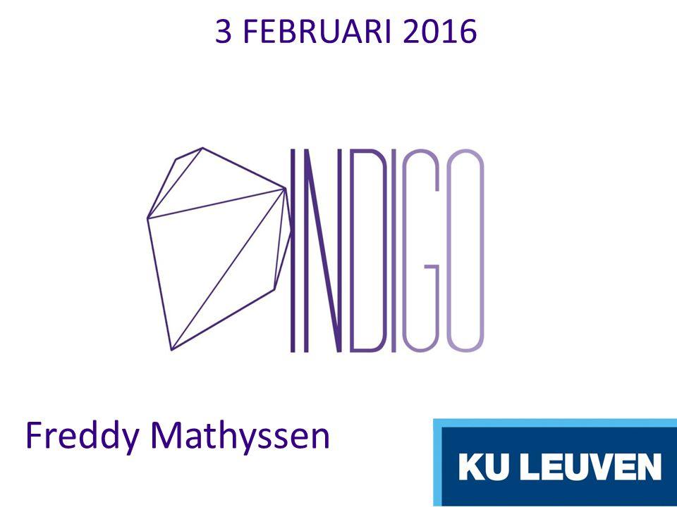 3 FEBRUARI 2016 Freddy Mathyssen