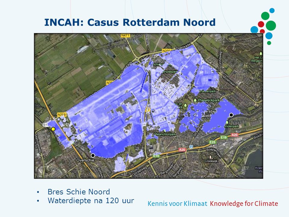 INCAH: Casus Rotterdam Noord Bres Schie Zuid Waterdiepte na 120 uur