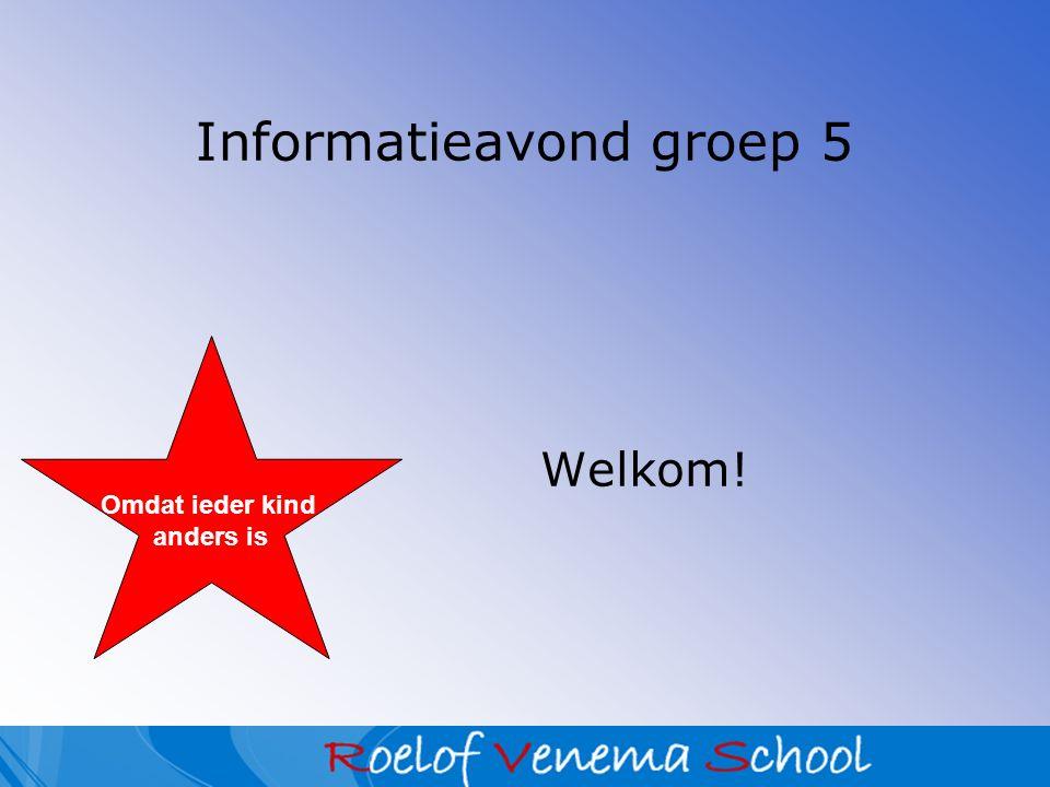 Agenda Welkom & kennismaking Leefregels Organisatie in de klas Methoden groep 5 Algemene informatie Vragenronde