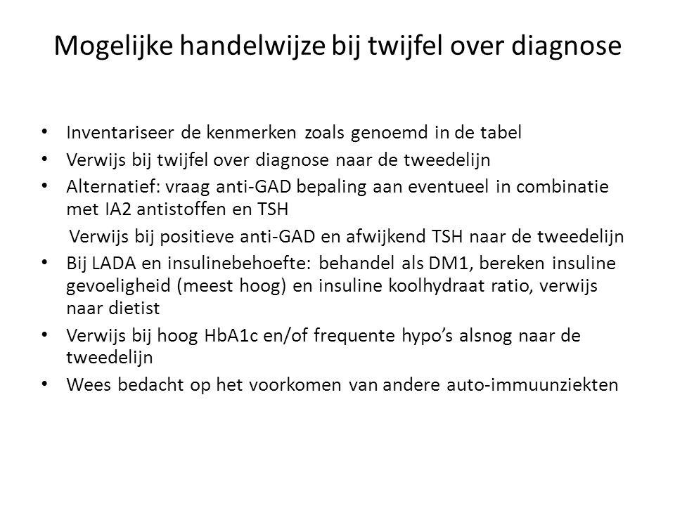 Meneer Fritsen Leeftijd 52 jaar, BMI 32 Diabetes sinds: 2008 OAD:metformine 2 dd 1000 mg glimeperide 1 dd 6 mg HbA1c: 88,0 mmol/mol, nGlu: 14,5 mmol/l ( oktober 2012) RR: 128/76 mm Hg, lipiden: LDL: 3.23 mmol/l, eGFR: 86 ml/min Overige medicatie: simvastatine 40 mg 1 dd 1 Problemen: stress, moe, erg druk, werkt in volcontinue Dagcurves voor overschakeling op insulinetherapie maart 2012 NNOVMNMVANAVSOMAS 9,89,58,67,45,87,36,5 6,76,93,86,2