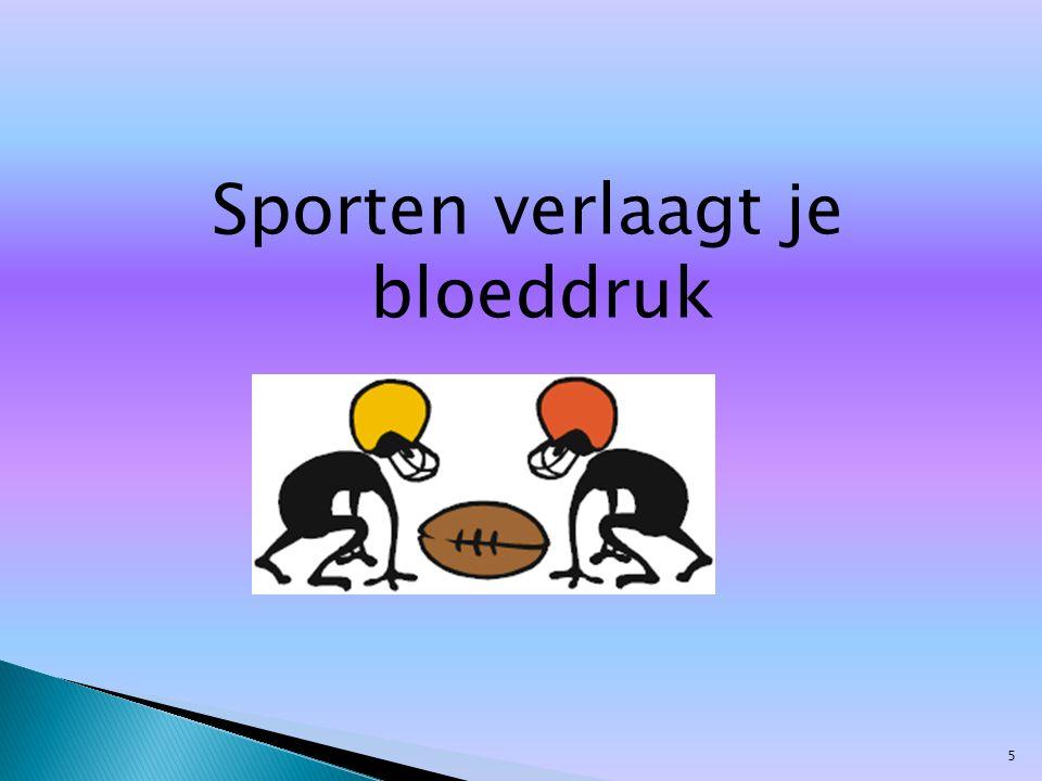 Sporten verlaagt je bloeddruk 5