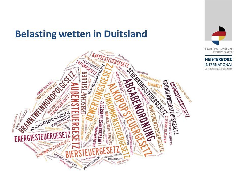 Belasting wetten in Duitsland