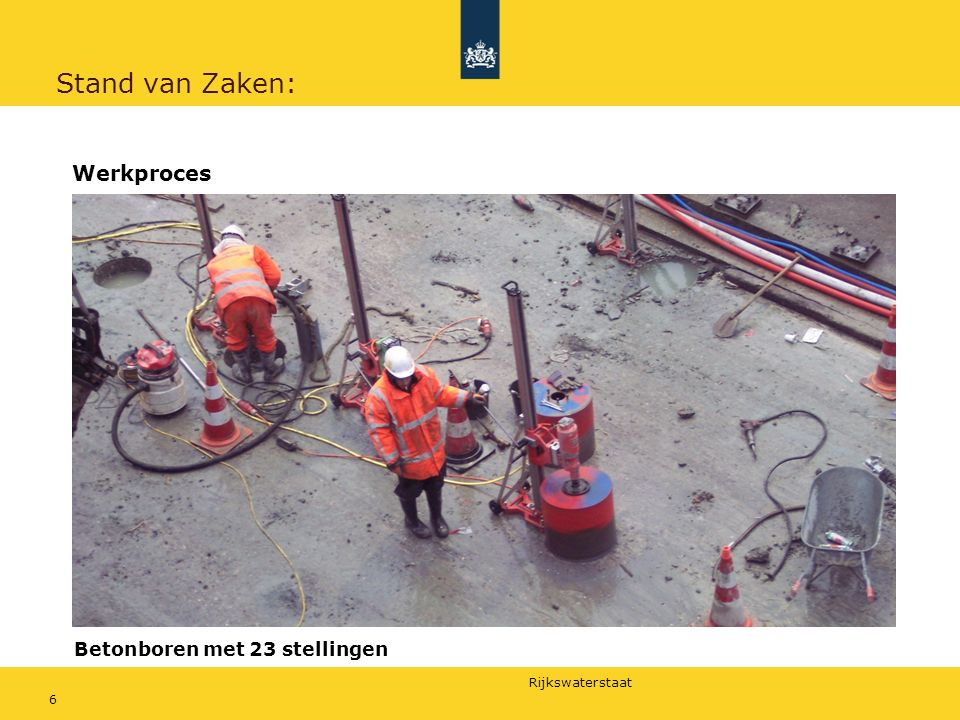 Rijkswaterstaat 7 Stand van Zaken: Werkproces Buisboren tot ca.
