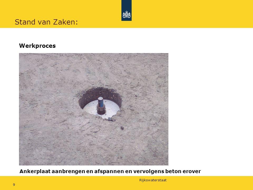 Rijkswaterstaat 10 Stand van Zaken: Weersomstandigheden zaten mee, dus:  Ongeveer de helft van de ankers is aangebracht  Eerste laag asfalt aangebracht  Elektronische lussen aangebracht t.b.v.