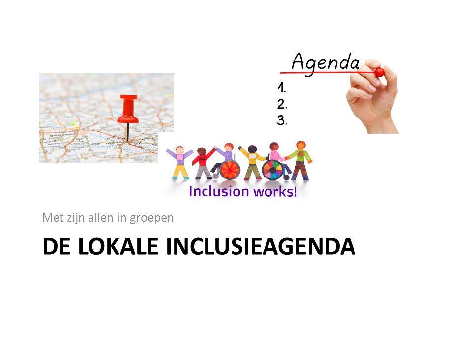 DE LOKALE INCLUSIEAGENDA Met zijn allen in groepen