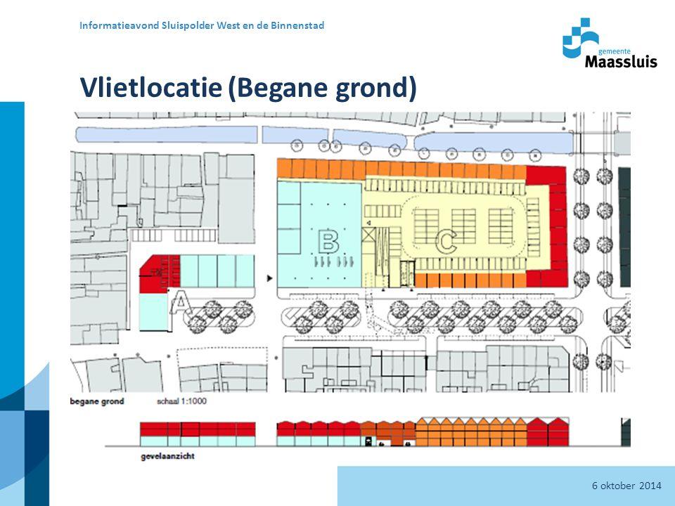 Vlietlocatie (Begane grond) 6 oktober 2014 Informatieavond Sluispolder West en de Binnenstad 11