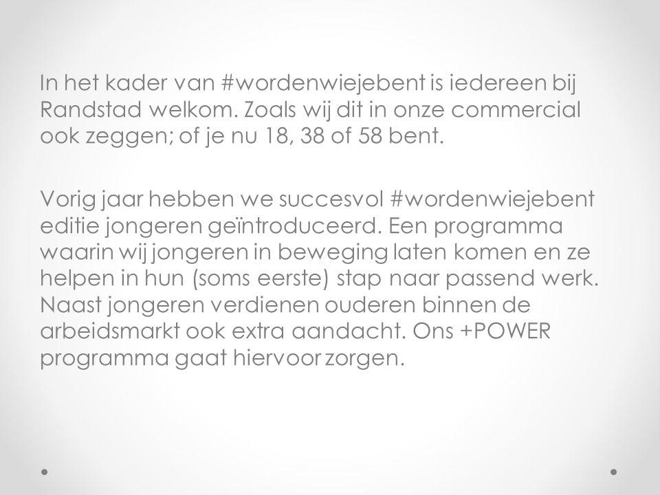 In het kader van #wordenwiejebent is iedereen bij Randstad welkom.