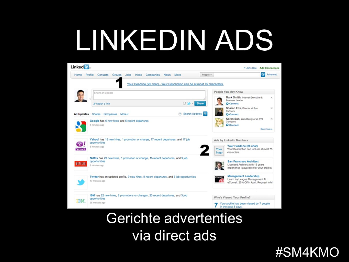 LINKEDIN ADS Gerichte advertenties via direct ads #SM4KMO
