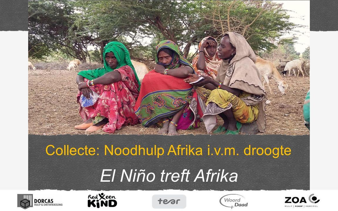 El Niño treft Afrika Collecte: Noodhulp Afrika i.v.m. droogte