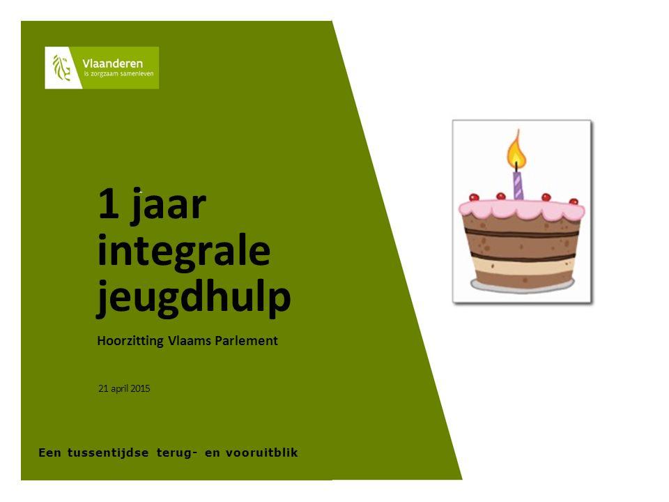 11 1 jaar integrale jeugdhulp Hoorzitting Vlaams Parlement 21 april 2015 Een tussentijdse terug- en vooruitblik